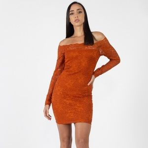 Dresses & Skirts - Floral Lace Off Shoulder Dress